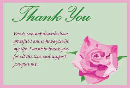 Thank U Cards With Flowers Flowers Healthy